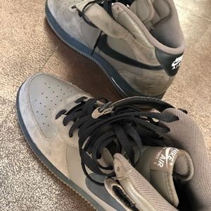 Nike Shoes - SUEDE NIKE AIR FORCE 1 GREY